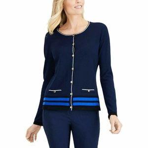 Karen Scott M Intrepid Blue Sweater 9BI36